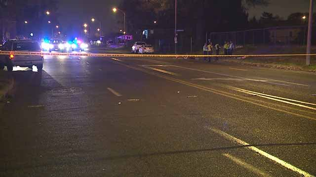 A pedestrian was hit by a car near the intersection of Hampton and Jamieson Friday night. Credit: KMOV