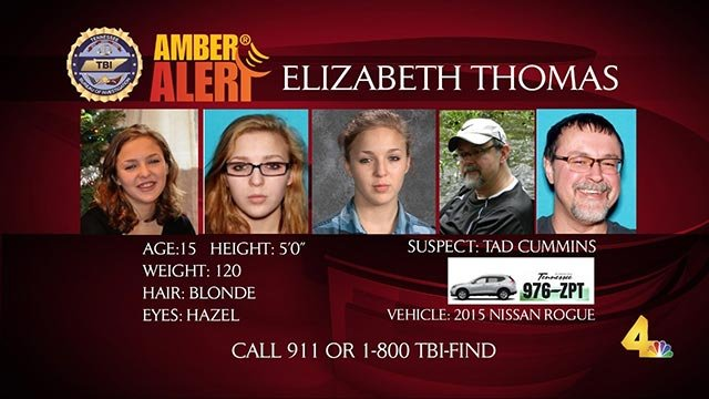 Anyone with information about the whereabouts of Elizabeth Thomas and Tad Cummins is asked to call police. (WSMV)