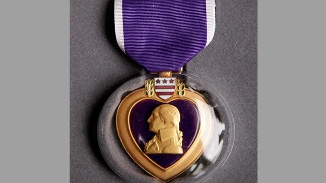 Purple Heart medal (Credit: AP)