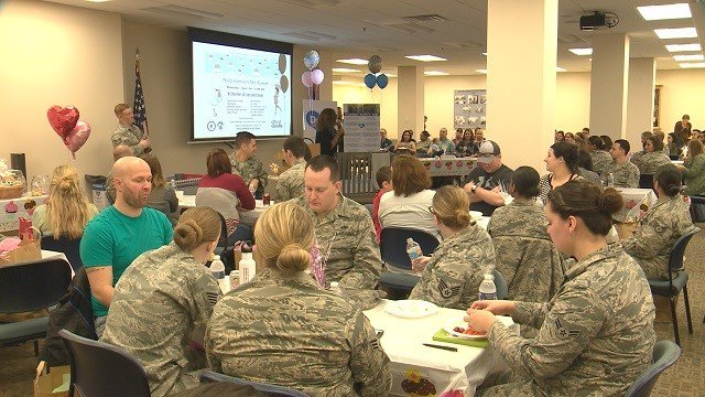 The Family Advocacy Outreach group host first baby shower at Scott Air Force Base. (Credit: KMOV)