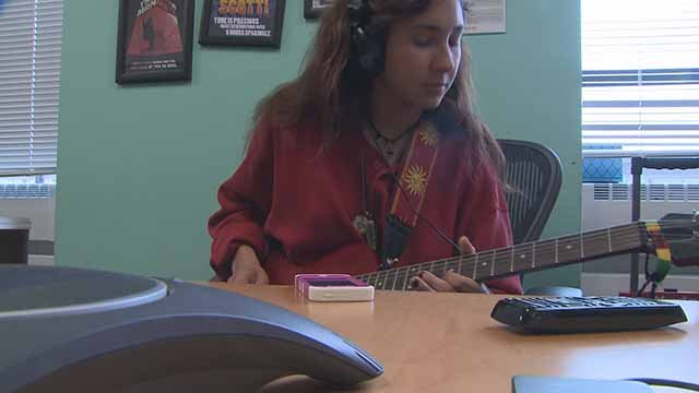 A student in the Notes for Life Program. Credit: KMOV
