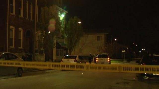 Crime scene tape seen in the 3500 block of Kossuth Friday (Credit: KMOV)
