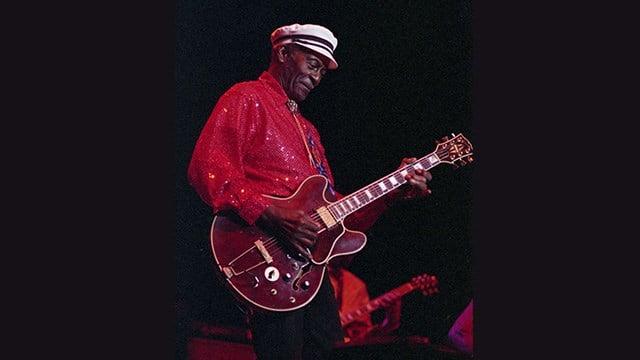 "Fans remember Chuck Berry at ""Celebration of Life"" service on Sunday.  (Credit: Las Vegas News Bureau)"