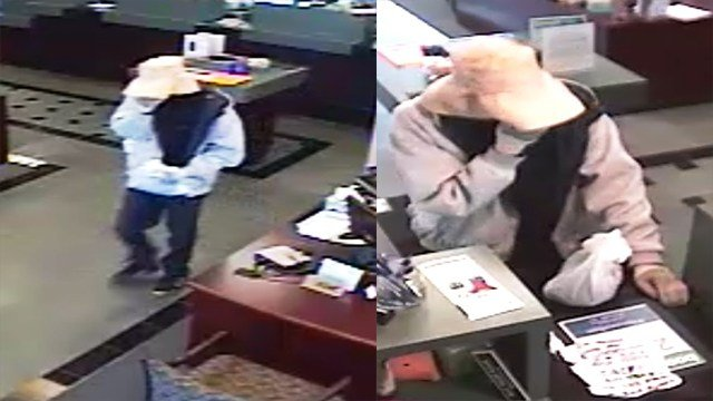 Police are searching for a suspect that robbed Reliance Bank wearing a surgical mask. (Credit: St. Louis County Police Department)