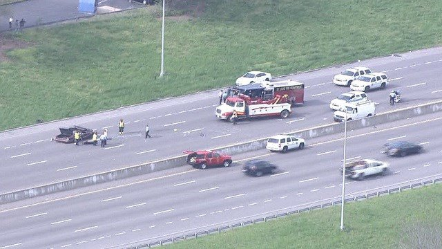 An accident closed Interstate 55 in South City (KMOV)
