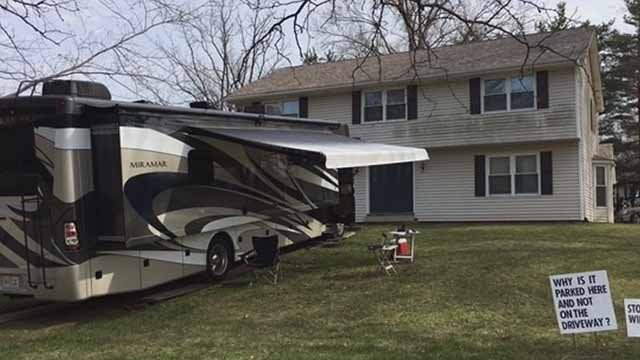 This RV is causing controversy in Ellisville. Credit: KMOV