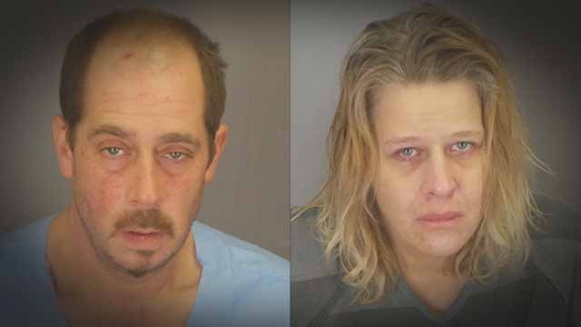 Vance and Melissa Shearer were allegedly involved in several ATM thefts in the St. Louis area and a burglary at a pharmacy in De Soto. Credit: Jefferson County Sheriff