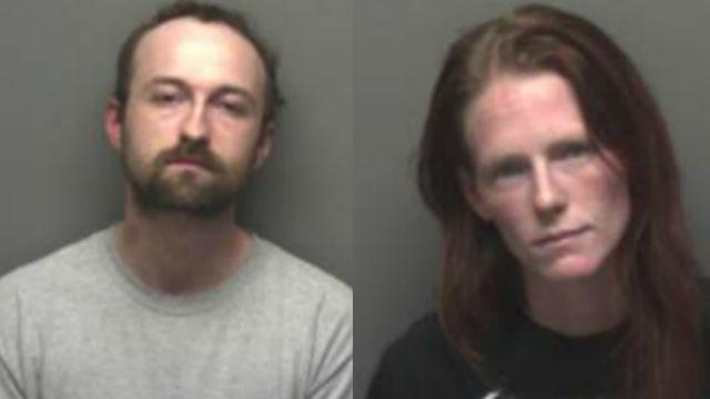 John Handcastle and Miranda Everhart. (Photo credit: Franklin County Sheriff's Office)