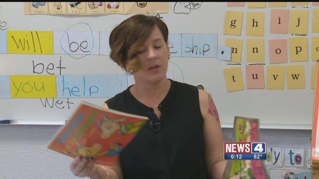 The Surprise Squad had a special surprise for Ms. Riley, a Hazelwood teacher who made a deep impact on two of her former students. Credit: KMOV