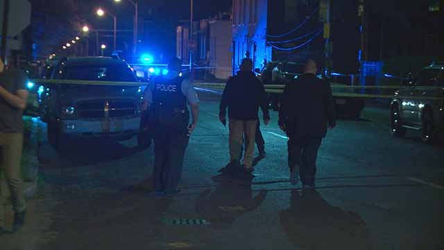 Three people were shot near the intersection of Utah and Oregon Friday night. Credit: KMOV