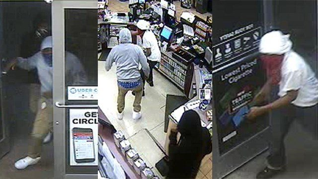 Police are searching for three men who robbed multiple gas stations in the Metro East. (Credit: Troy Police Department)