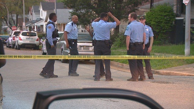 The scene of the shooting. (Credit: KMOV)
