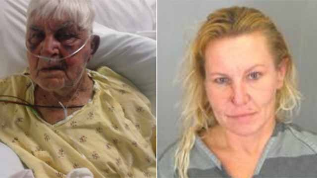 Geraldine Combs, 43, is accused of beating Bill Dobbs, 85, with a hammer. Credit: KMOV