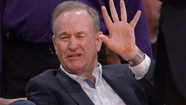Television personality Bill O'Reilly watches the Los Angeles Lakers play the Minnesota Timberwolves in their NBA basketball game, Thursday, Feb. 28, 2013, in Los Angeles. (AP Photo/Mark J. Terrill)