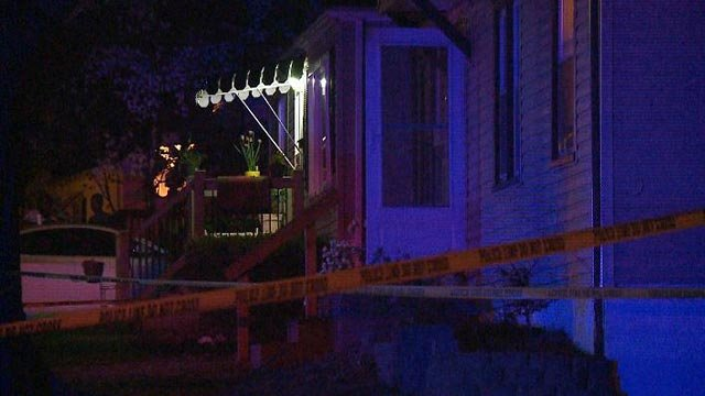 Two male victims were shot and killed in Bellefontaine Neighbors Wednesday night. Credit: KMOV