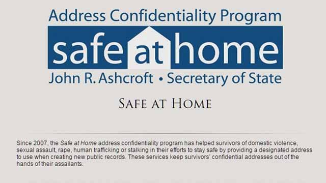 The Safe at Home program. Credit: KMOV