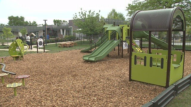 The new playground at the Flance Early Learning Center. (Credit: KMOV)