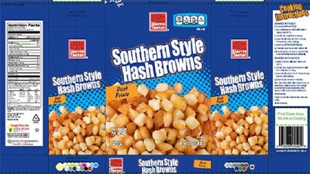 McCain Foods USA, Inc. announced today it is voluntarily recalling retail, frozen hash brown products that may be contaminated with extraneous golf ball materials. (Credit: CNN/McCain Foods)