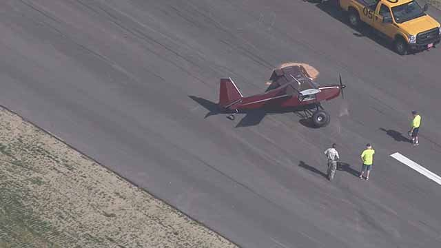 A plane crashed at Spirit of St. Louis Airport in Chesterfield Monday afternoon. Credit: KMOV