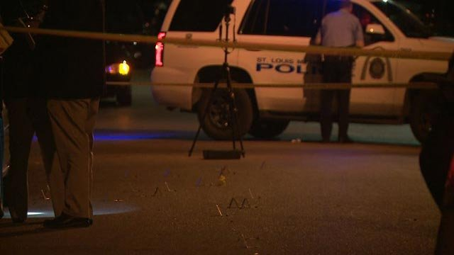 Investigators in the 3600 block of Cote Brilliante after a deadly shooting Monday night (Credit: KMOV)