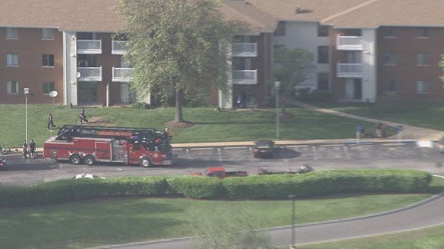 The fire was located on the second floor of an apartment building. Once the fire was extinguished, fire crews located a deceased 85-year-old female. (Credit: KMOV)