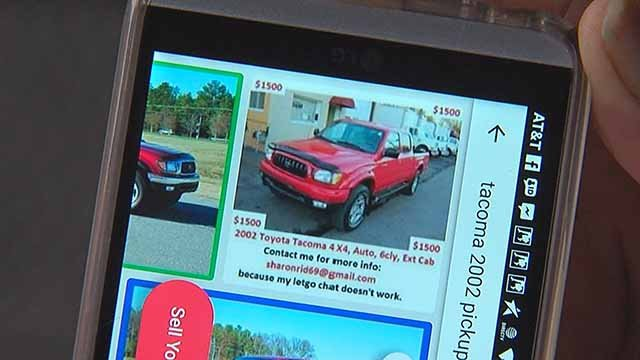 A scam where a fake used car is for sale is spreading to buy and sell apps. Credit: KMOV