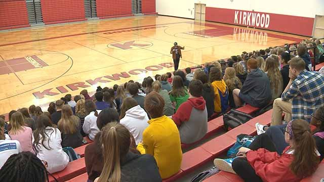 Students at Kirkwood High are working to end the stigma of metal illness. Credit: KMOV
