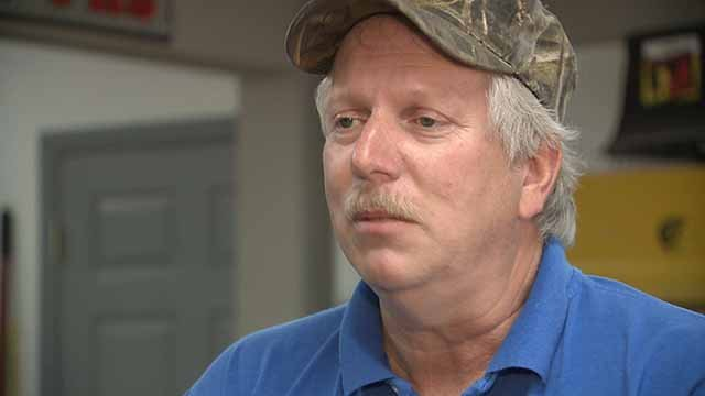Rob McManus said he may have to close part of his construction company because it isn't being allowed to expand. Credit: KMOV