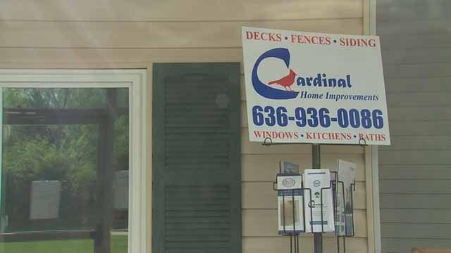 Cardinal Home Improvements sign. Credit: KMOV