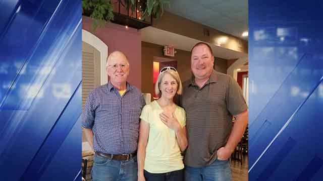 Cindy Greenwell (center) was reunited with her missing Bishop DuBourg class ring after almost 50 years (Credit: Bishop DuBourg High School)