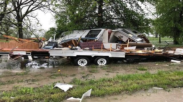 Damage at the scene in St. Charles County (Credit: KMOV)