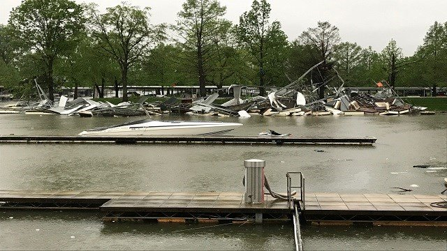 Lake Center Marina in St. Charles County. (Credit: KMOV)