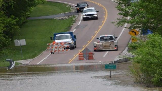 Flooding in Jefferson County. (Credit: Carol Kreamer)