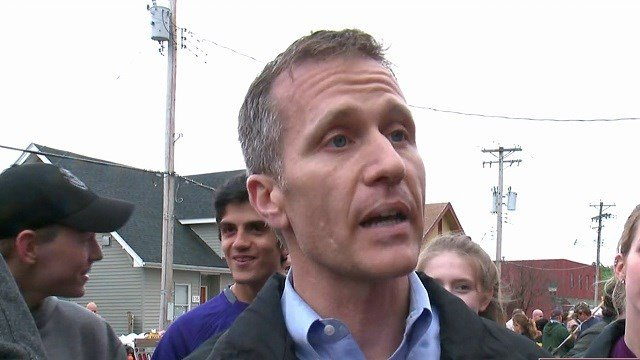 Governor Eric Greitens paid a visit to Eureka to talk about what the state's doing to help communities facing floods. (Credit: KMOV)