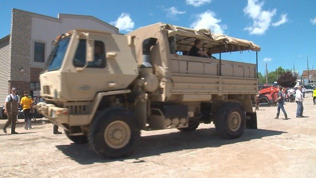 National Guard trucks (Credit: KMOV)