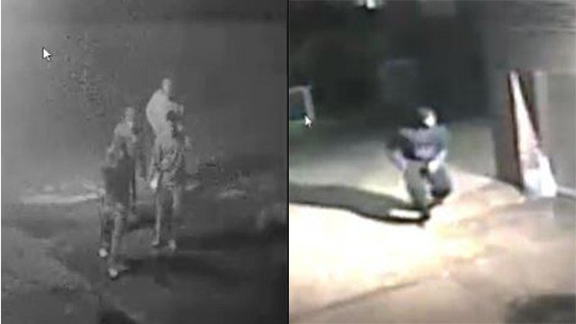 Clayton Police searching for four suspects involved in a series of crimes in Clayton. (Credit: Clayton Police Department)