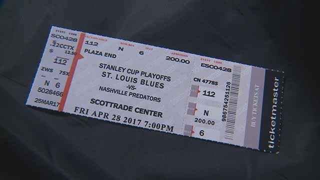 Beware of fake Blues playoff tickets. Credit: KMOV