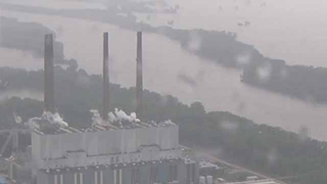The Ameren coal-fired plant in Labadie. Credit: KMOV