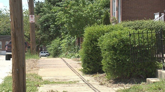 President Street where the boy was shot. (Credit: KMOV)