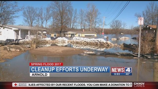 Dozens of homes in Arnold sustained flood damage last week (Credit: KMOV)
