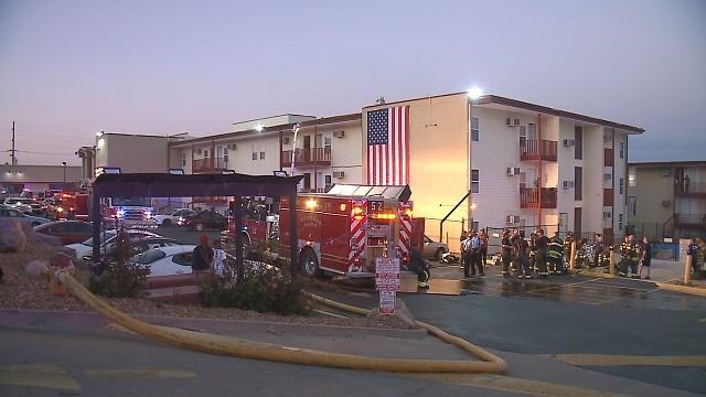 Fire breaks out at motel near Lambert airport. (Credit: KMOV)