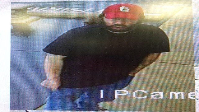 Town and Country Police are searching a suspect who used counterfeit currency at a local hospital. (Credit: Town and Country Police Department)