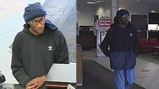 St. Charles PD says this man robbed a Bank of American on S. Fifth Street Monday afternoon. Credit: St. Charles PD