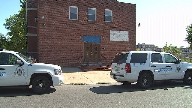 St. Louis police are searching for two people who broke into a North St. Louis church on Tuesday morning. (Credit: KMOV)