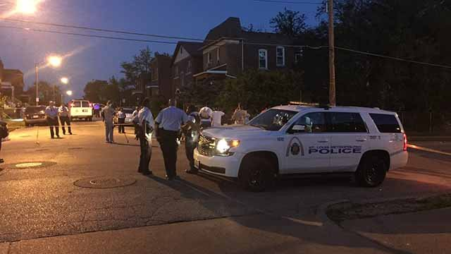 Three victims were shot and one of them died in a shooting at Hodiamont and Wabada in North City on Tuesday night. Credit: KMOV
