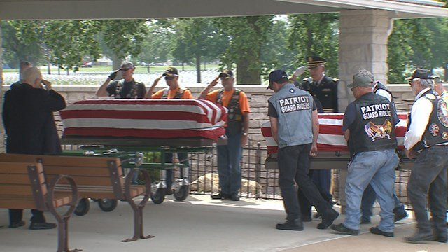 A full military burial service was held at Jefferson Barracks National Cemetery. (Credit: KMOV)
