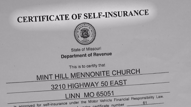 Under Missouri law, church members opposed to conventional insurance can apply for a certificate of self-insurance.  (Credit: KMOV)