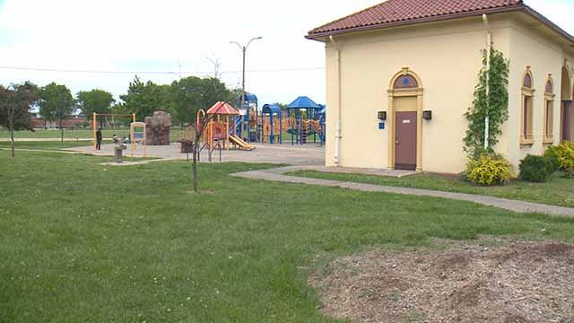A woman allegedly carjacked and shot a man she met online at this South City park. Credit: KMOV