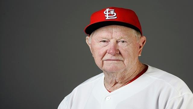 Red Schoendienst of the St Louis Cardinals  (Credit: AP Photo / Jeff Roberson)