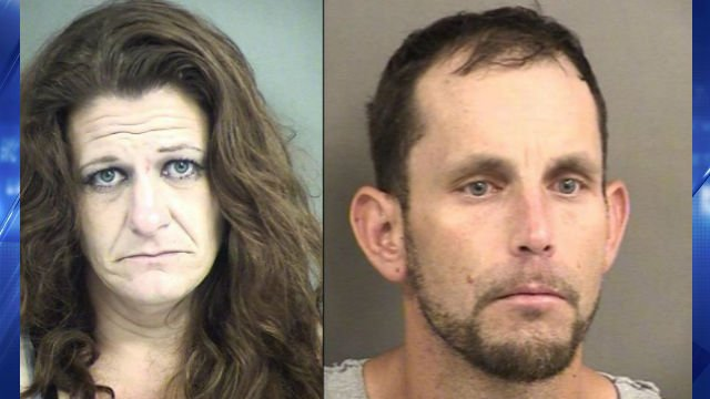 Rebecca Hall (left) and Eric Floyd (right) took off while deputies tried to perform a traffic stop, authorities said. (Phelps County Sheriff's Department)